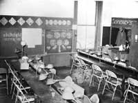 Classroom at jewelry manufacturing school in New Castle, Pennsylvania