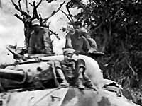 American tank advances to Yaeju-Dake through the Iwa area