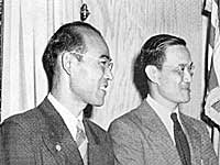 Shigeo Yoshida, Hung Wai Ching, and Charles Loomis, Moral Committee and Emergency Service Committees liaison directors.