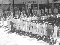 Men line up for brothels on Hotel Street