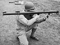 Soldier holding a bazooka