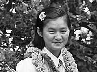 Janet Segawa Matsumoto and sister Mary, 9th grade graduation