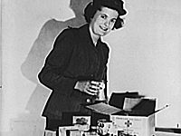 Red Cross food package for American POWs