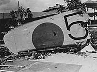 Japanese bomber shot down during Pearl Harbor attack