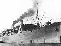 SS Lurline departing Honolulu with 442nd boys