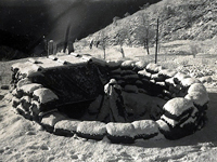 Location of the 88mm mortar in the Maritime Alps. Champagne Campaign. France. Winter of 1944 to Spring of 1945.