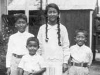 Miho Family. Onishi Camp in Kahului, Maui, 1928.