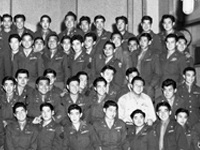 442nd RCT GIs at the Frank Sinatra Show. Los Angeles, California. 1945.